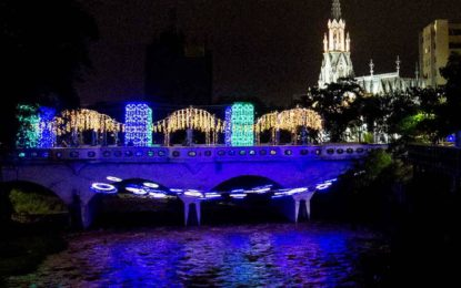 500 metros de luces han sido robadas del Boulevard del río Cali