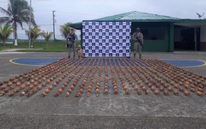 Armada Nacional incautó 400 kilogramos de explosivos tipo pentolita del ELN