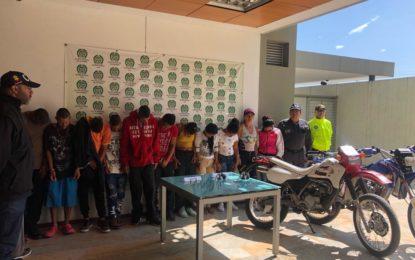 Cayó banda delincuencial «Los Eladios» dedicada al homicidio y otros delitos en Yumbo