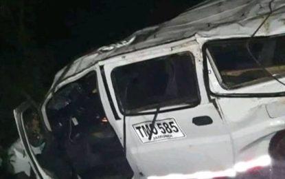 Fiscalía investiga muerte de tres personas de una orquesta, durante accidente de tránsito