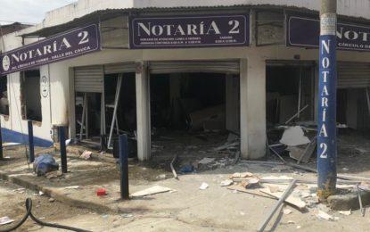 Seis personas heridas deja explosión de notaria en Yumbo – Valle