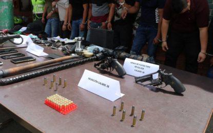 Tras persecución ocho presuntos apartamenteros fueron capturados en Cali