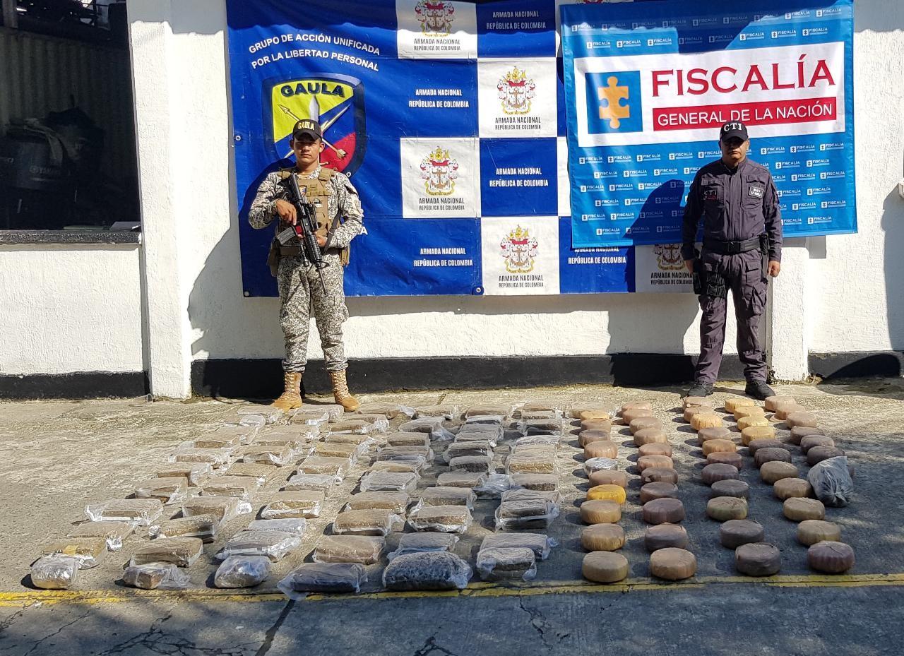 Incautan en Buenaventura 105 kilos de marihuana listos para exportar al extranjero