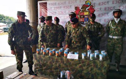 1100 Kilos de cocaína liquída en latas de durazno