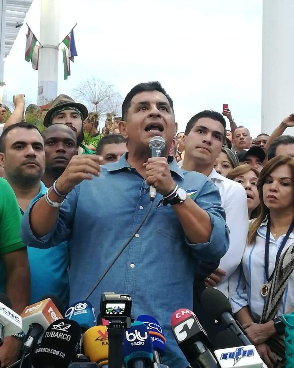En huelga de hambre se declara Jorge Iván Ospina