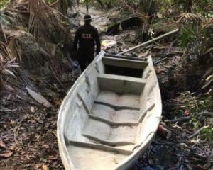 Desmantelado puerto artesanal, utilizado para acondicionar embarcaciones para el narcotráfico