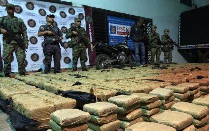 Incautan más de una tonelada de marihuana de las FARC, en Caloto
