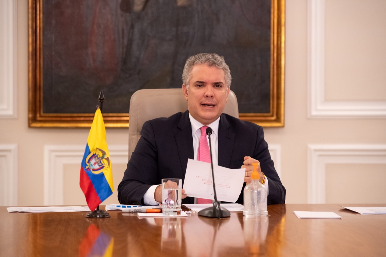 Presidente Duque anuncia los principios que van a regir el aislamiento en Colombia desde el 1° de junio