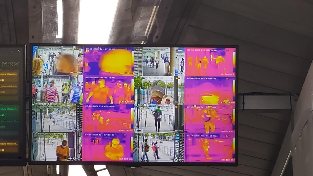 Instalan cámaras térmicas en estaciones del sistema masivo en Cali