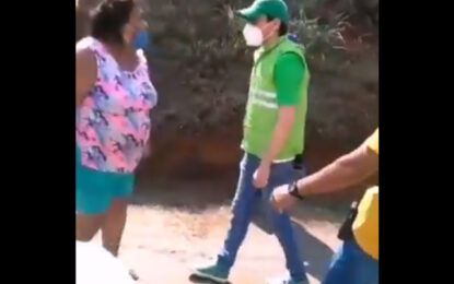 """Señora, usted a mí me respeta"", Alcalde de Jamundí a lideresa"