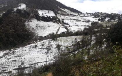 Como los Alpes Suizos: así dejó la fuerte granizada a las montañas de Silvia, Cauca