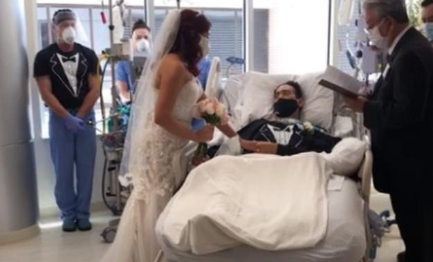 Un amor que trasciende: paciente con COVID-19 le cumplió la promesa a su prometida
