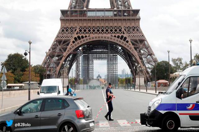 Alerta por posible bomba en la Torre Eiffel de Francia