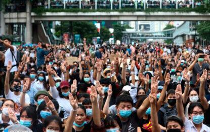 Bangkok centro de protestas en contra de la monarquía Tailandesa