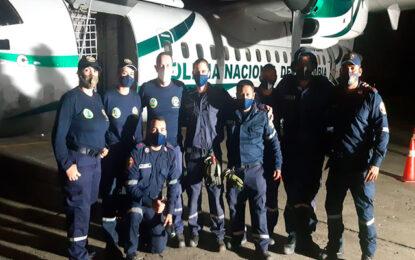 La presencia de los bomberos de Cali ante el Huracán Iota