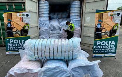 Aprehensión de un contenedor de textiles avaluado en 467 millones de pesos