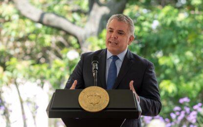 Presidente Duque invita a los organismos de control a acompañar proceso de vacunación