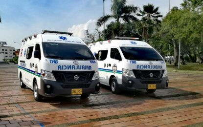 Ministerio de Salud entregó 4 ambulancias para la capital vallecaucana.
