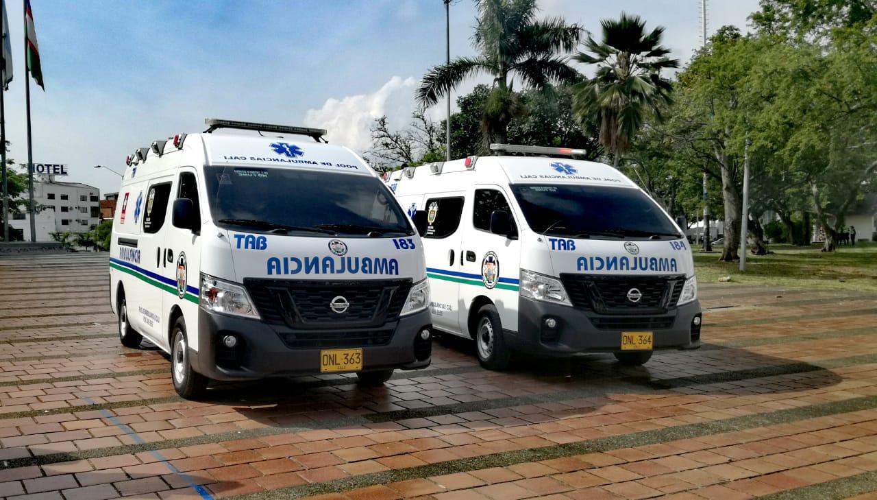 Ministerio de Salud entregó 4 ambulancias para la capital vallecaucana.