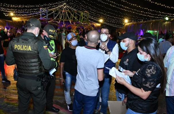 Desactivan 36 fiestas durante el fin de semana con ley seca y toque de queda en Cali