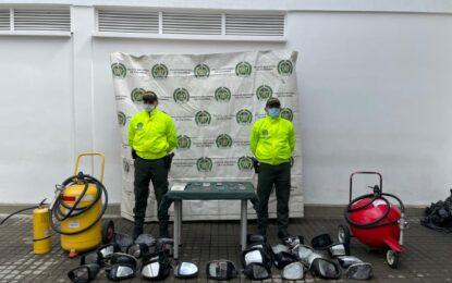 Policia recupera objetos robados durante hechos de vandalismo en Cali