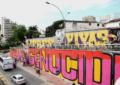Se realizó la pintatón sobre la calle quinta con grafitis y murales