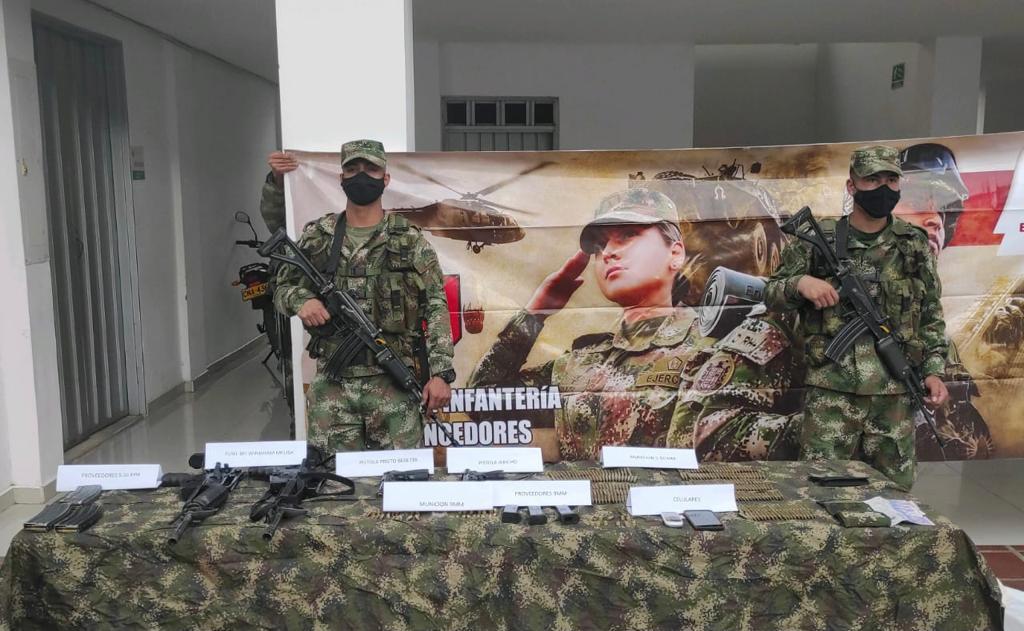 Neutralizados tres integrantes del GAO Clan del Golfo, en el Valle del Cauca