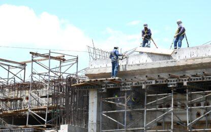 Se reactivó construcción del puente en Juanchito