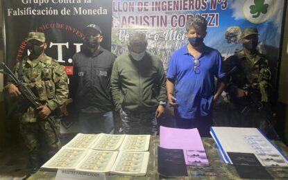 Falsificadores de dólares capturados en Pradera